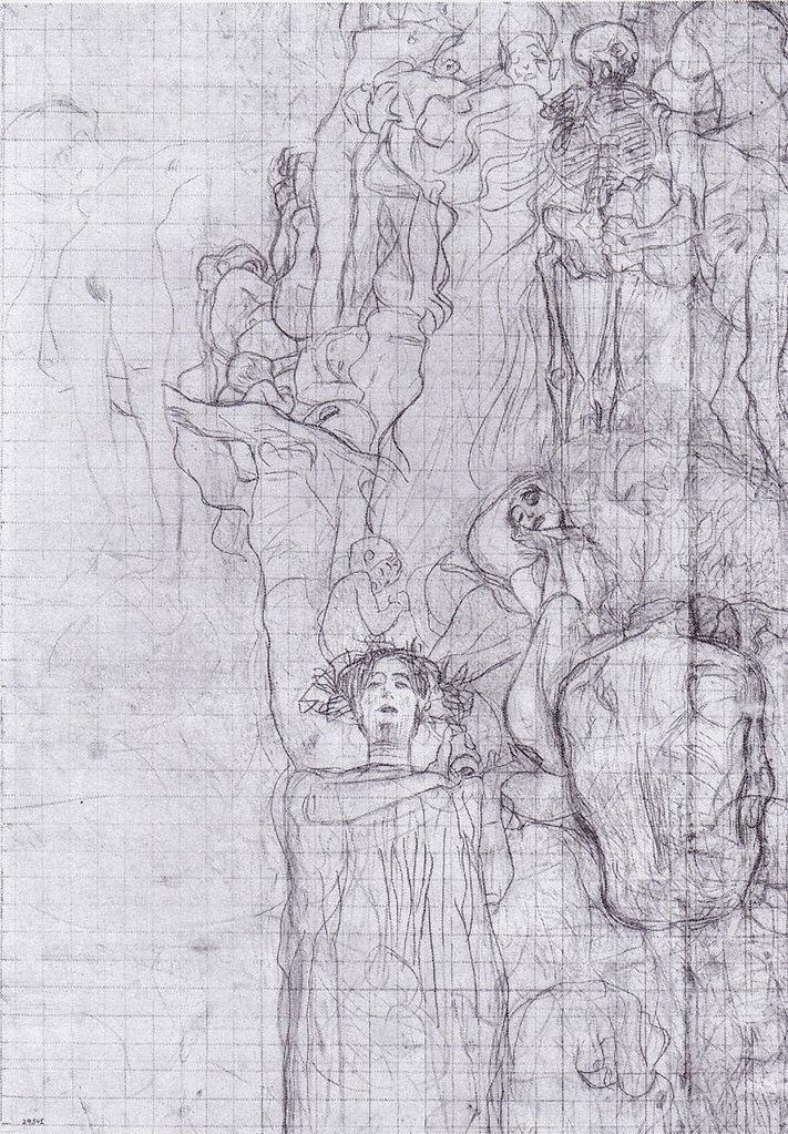 'Study for 'Medicine'', Gustav Klimt